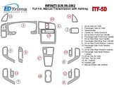 Nissan Patrol 02.00 - 06.04 Mittelkonsole Armaturendekor Cockpit Dekor 8 -Teile