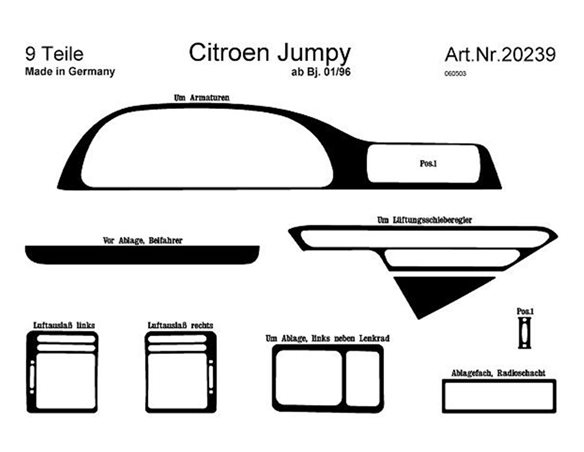 Dodge Nitro 09.2010 Exkluzívne Samolepící Dekor Palubnej Dosky 16-Dielny
