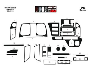 Chrysler Grand Cherokee 01.1996 Mittelkonsole Armaturendekor Cockpit Dekor 10 -Teile