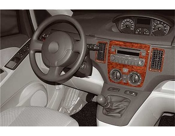 Fiat Idea 01.2004 3M 3D Interior Dashboard Trim Kit Dash Trim Dekor 7-Parts