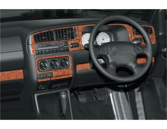 HYUNDAI Hyundai Sonata 09.93-09.96 3M 3D Interior Dashboard Trim Kit Dash Trim Dekor 18-Parts €38.49