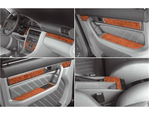 Audi 100 A6 10.90-03.97 3M 3D Interior Dashboard Trim Kit Dash Trim Dekor 22-Parts